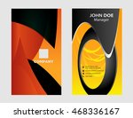 modern business   card set  | Shutterstock .eps vector #468336167