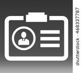 id card vector icon illustration | Shutterstock .eps vector #468337787