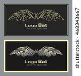 set of poligon abstract bat.... | Shutterstock .eps vector #468343667