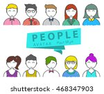 people avatar icon  paint style ... | Shutterstock .eps vector #468347903