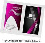 business card template  | Shutterstock .eps vector #468353177