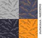 set of seamless pattern with... | Shutterstock .eps vector #468358943