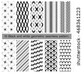 collection of black and white... | Shutterstock .eps vector #468361223