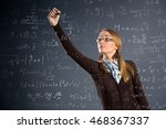 schoolgirl work assignments in ... | Shutterstock . vector #468367337