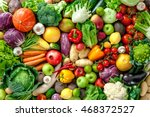 assortment of  fresh fruits and ... | Shutterstock . vector #468372527