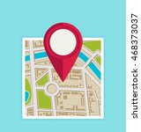 flat map with pin. vector map... | Shutterstock .eps vector #468373037