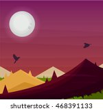 nature background. vector.night ... | Shutterstock .eps vector #468391133