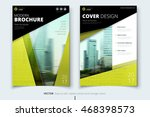 yellow catalog template cover... | Shutterstock .eps vector #468398573
