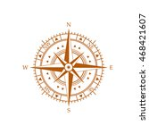 compass wind rose icon | Shutterstock .eps vector #468421607