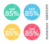 85  off. sale and discount... | Shutterstock .eps vector #468431393