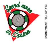 color vintage casino emblem | Shutterstock .eps vector #468434543