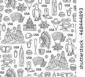 vector seamless pattern on the...   Shutterstock .eps vector #468444893