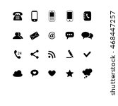 vector set of icons for web or... | Shutterstock .eps vector #468447257