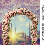 Wedding Arch Decorated With...