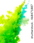 abstract blue and green paint... | Shutterstock . vector #468471887