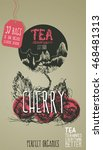 tea cherry. vector illustration ... | Shutterstock .eps vector #468481313