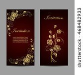 set of invitation cards design. ... | Shutterstock .eps vector #468482933