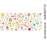 colorful flower symbol and... | Shutterstock .eps vector #468483713