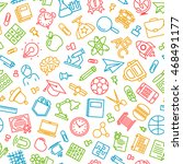 pattern back to school and...   Shutterstock .eps vector #468491177
