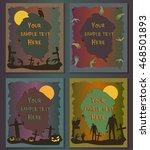 halloween posters set.... | Shutterstock .eps vector #468501893