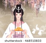 chang'e  the chinese moon... | Shutterstock .eps vector #468510833