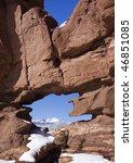 red sandstone rock formation... | Shutterstock . vector #46851085
