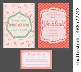 set of invitations. vector... | Shutterstock .eps vector #468522743