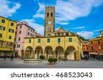 view of a church situated on... | Shutterstock . vector #468523043