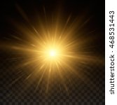 bright shining sun star.... | Shutterstock .eps vector #468531443