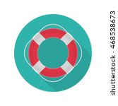 vector ring lifebuoy icon whit... | Shutterstock .eps vector #468538673