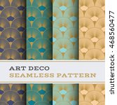 art deco seamless pattern with... | Shutterstock .eps vector #468560477