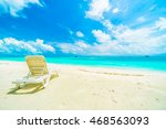 beautiful tropical beach and... | Shutterstock . vector #468563093