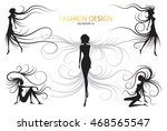 set abstract body black and... | Shutterstock .eps vector #468565547