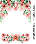 frame with watercolor light red ... | Shutterstock . vector #468585323