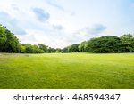 beautiful park scene in public... | Shutterstock . vector #468594347