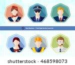 aviation people avatar user... | Shutterstock .eps vector #468598073