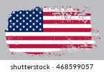 grunge usa flag.american flag... | Shutterstock .eps vector #468599057