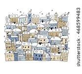 cartoon of abstract winter... | Shutterstock .eps vector #468599483