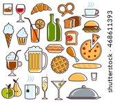 set of universal standard new... | Shutterstock . vector #468611393