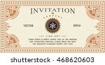 invitation card antique frame... | Shutterstock .eps vector #468620603