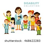 disability school children... | Shutterstock .eps vector #468622283