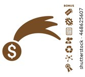 lucky money icon with bonus...   Shutterstock .eps vector #468625607