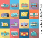 set houses  buildings  and... | Shutterstock . vector #468629747