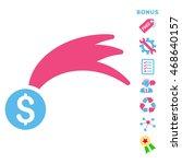 lucky money icon with bonus...   Shutterstock .eps vector #468640157