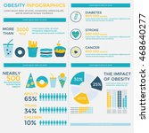 obesity infographics elements... | Shutterstock .eps vector #468640277