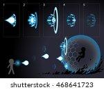 shooting effect animation.   Shutterstock .eps vector #468641723