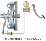 hydraulic clutch systems | Shutterstock .eps vector #468642173