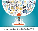 vector search business... | Shutterstock .eps vector #468646097