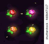 magic colorful square gem with...