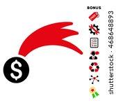 lucky money icon with bonus...   Shutterstock .eps vector #468648893